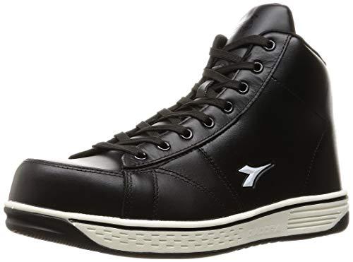 [ディアドラユーティリティ] 安全作業靴 JSAA認定 ハイカット プロスニーカー BUZZARD バザード BZ221 ブラック/ブラック/ホワイト 24.5 cm 3E