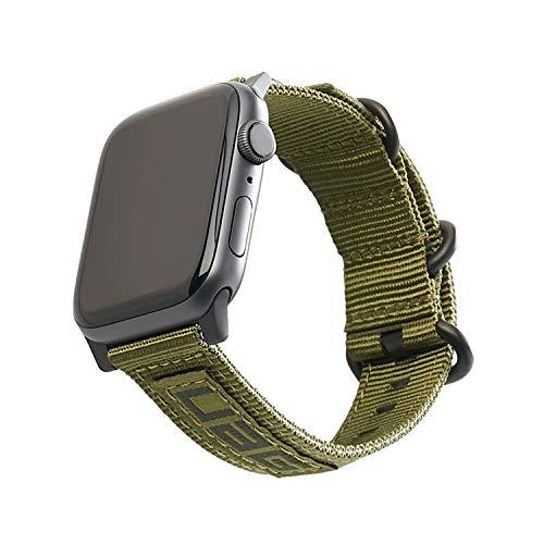 Urban Armor Gear Nato Strap Cinturino per Apple Watch (42mm) e Apple Watch (44mm) (Series 5, Series 4, Series 3, Series 2, Series 1, Cinturini di ricambio) - oliva