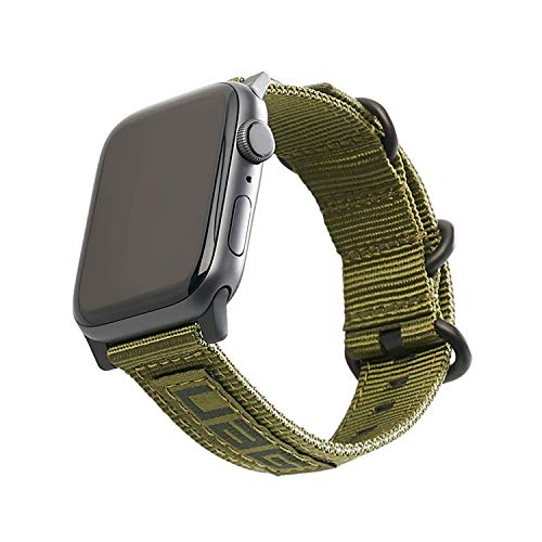 Urban Armor Gear Nato Strap Cinturino per Apple Watch (42mm) e Apple Watch (44mm) (Series 5, Series 4, Series 3, Series 2, Series 1, Cinturini di ricambio) - oliva