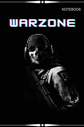 Warzone Notebook: 6x9 Ruled Journal Planner The Perfect Accessory for Gamers Solo Quads Battle-Royale