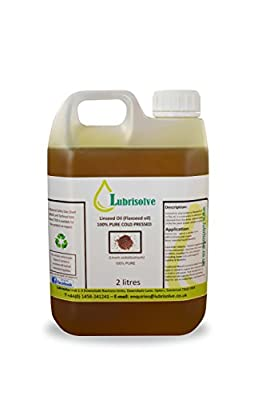 Lubrisolve Online Linseed Oil - 100% pure, cold pressed Linseed Oil - 2 litres