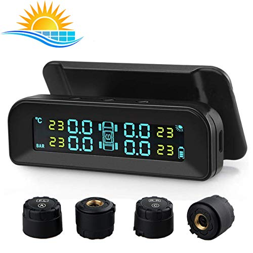 black tyre pressure monitoring system vehicle Aukey TP//CO//001 TPMS with display