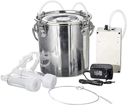 JWCN Máquina ordedora eléctrica de acero inoxidable portátil para ordeñar al vacío, para el hogar, pequeño brazo de , enchufar y actualizar cabras