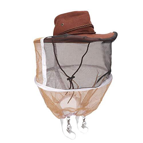 Sugoyi Chapeau d'apiculteur, épais Respirant Apiculteur Chapeau de Cowboy Abeille Insecte Filet Voile Protecteur de la tête Apiculture Chapeau Apiculture Fournitures