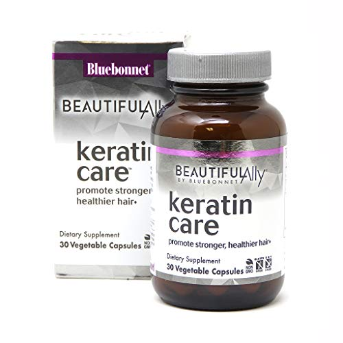 Bluebonnet Nutrition Beautiful Ally Keratin Care, Beauty Nutrient, Best for Hair, Strengthen and Revitalize Hair*, Non GMO, Gluten Free, Soy Free, Milk Free, 30 Vegetable Capsules, 30 Servings