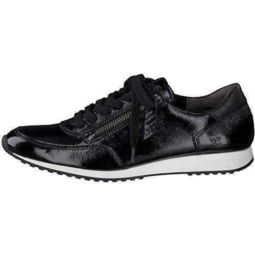 Paul Green Damen Super Soft Sneaker, Frauen sportlicher Schnürer, schnürschuh strassenschuh Sneaker schnürer Derby weiblich,Schwarz,6 UK / 39 EU