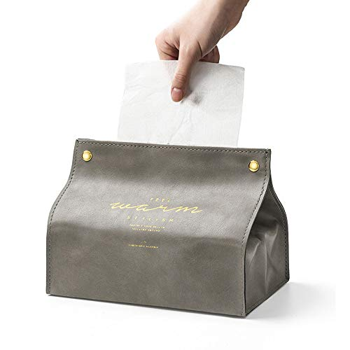 X-BLTU Scatola Porta fazzoletti,Portatovaglioli Pelle Triangolare Tissue Box,Porta Carta Igienica per Il Bagno per Il Bagno Vanità Controsoffitti Cucina Tavolo da Pranzo (Grigio)