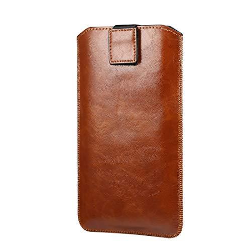 Adecuado para iPhone 7 Plus 8 Plus 6s Plus XR, cuero teléfono móvil bolsa iphone 11 Pro cinturón protección caso teléfono inteligente