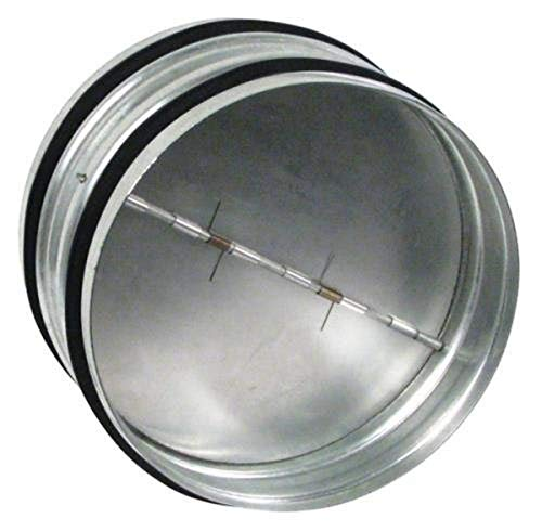 Ideal-AirHGC736982Back Draft Damper, 6-inch Diameter, Made From Heavy-Gauge Galvanized Steel with Heavy-Duty SpringsPrevents Back DraftsSilver
