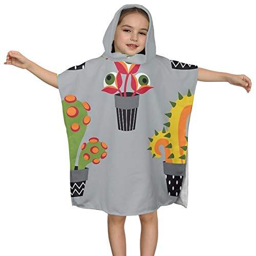 Kinderbadhanddoek met capuchon Monstruous Tuingereedschap Hoge kwaliteit Zwemmen Multifunctionele Mantel Ontwerp Super Zacht en Super Grote Ultrafijne Polyester Vezel voor Meisjes en Jongens