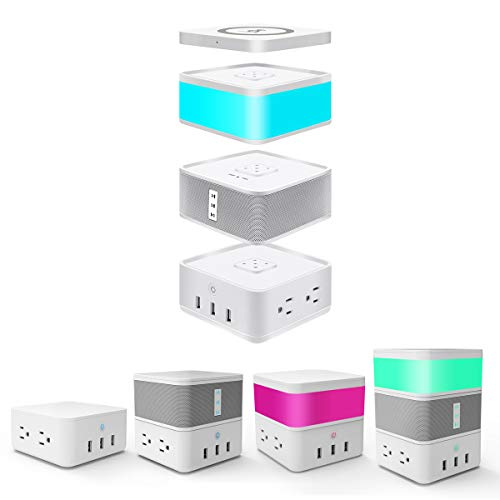 Bluetooth Speaker Combined with Power Strip, LED Touch Sensor Light and Wireless Charger $89, F/S @Amazon