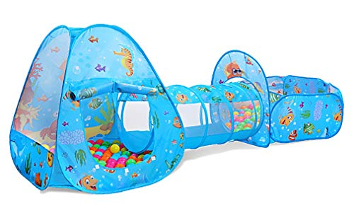 Benebomo Tentes et Tunnel de Jeu Pop-up pour Enfants multijoueurs,tentes de Jeu pour...