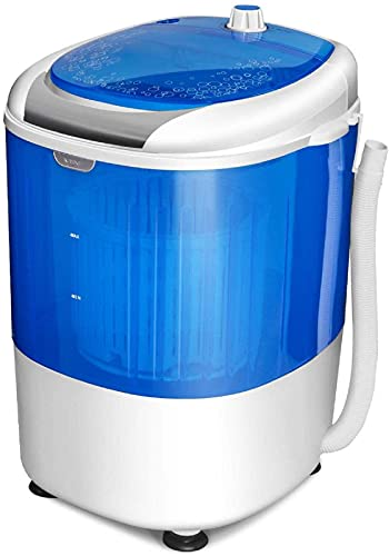 COSTWAY Mini Washing Machine with Spin Dryer, Washing Capacity 5.5lbs, Electric Compact Laundry Machines Portable Durable Design Washer Energy Saving, Rotary Controller