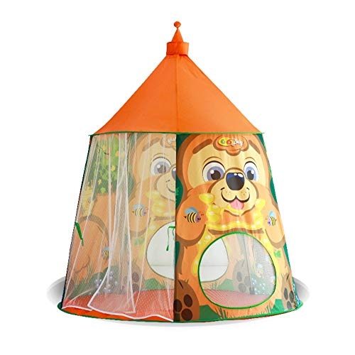 YIJIAHUI Kids Play Tent Kids Tent Game House Cartoon Toy House Indoor and Outdoor Children's Play Tent Kids Foldable Play Tent for Indoor Outdoor (Color : Orange, Size : 125x137cm)