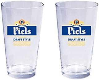 Piels Beer Pint Glass Officially Licensed, Set of 2