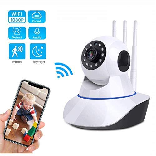 Monitores para bebés con cámara, cámara de seguridad de vigilancia doméstica inalámbrica con visión nocturna, detección de movimiento, audio bidireccional para monitor de bebé niñera mascota perro