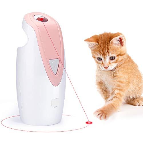 Zwini Lustiges Katzenspielzeug, interaktiv, automatisch, rotierendes Katzen-Licht, Spielzeug, USB-aufladbar, LED-Licht, Entertainment, Spielzeug für Kätzchen, Welpen