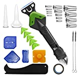 Upgraded Caulking Tool, 5 in 1 Silicone Caulking Tool kit with Caulk Remover, Stainless Steel Head and Sealant Scraper Set, Caulk Removal Tool, Sealant Finishing Caulk Tool Kit Grout Scraper(30 Pcs)