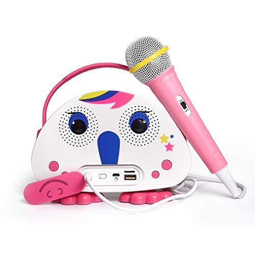 Máquina de karaoke inalámbrica con Bluetooth para niños, bolso de mano portátil, altavoz para niños con micrófono para actividades de interior y exterior
