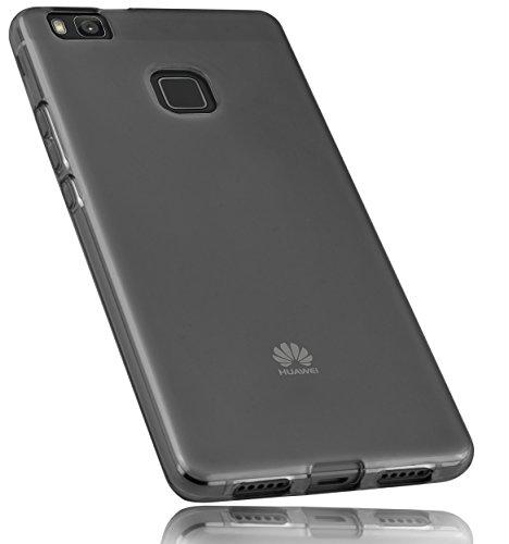 mumbi Hülle kompatibel mit Huawei P9 Lite Handy Case Handyhülle, transparent schwarz