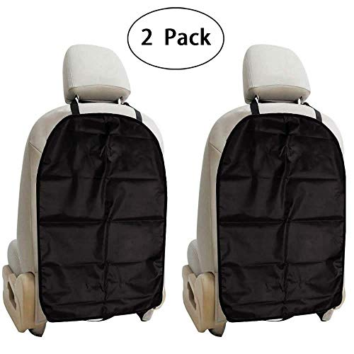 Protectores de asiento trasero para coche, tela Oxford impermeable, funda para niños, 2 unidades
