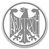 Impresionantes pegatinas de vinilo (juego de 2) 15 cm (bw), diseño de águila alemana de Alemania, color rosa
