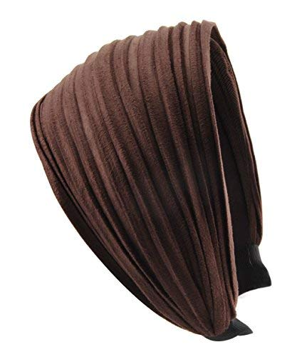 axy HR32 Haarreif Serie 32 Hair Band mit leichtem Flanell (Leder Optik) (Braun)