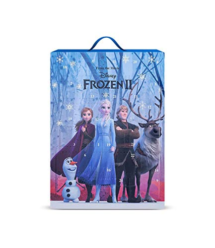SIX Frozen II Adventskalender für Kinder mit hübschen Schmuckstücken und Accessoires zum Aufhängen oder Hinstellen mit Eiskönigin ELSA Anna Olaf Christoph Motiv (371-058)