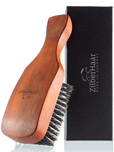 ZilberHaar Major - Hair & Beard Brush - Natural Boar Bristles and Pear Wood - All Beard and Hair Types - Best for thick or thin hair - A Must-Have Grooming Tool for Men's hair care
