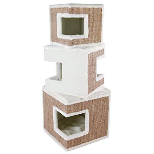 Trixie 43377 Cat Tower Lilo, 123 cm, weiß/braun