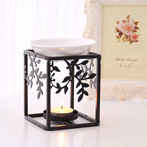 ToDIDAF Aroma Duftlampe/Öllampen, Edelstahl-Ölbrenner, Kerzen-Aromatherapie-Öllampe, Aromaofen, für Haupt- / Wohnzimmer- / Schlafzimmer- / Hotel- / Restaurant- / Toiletten- / Büro-Dekoration