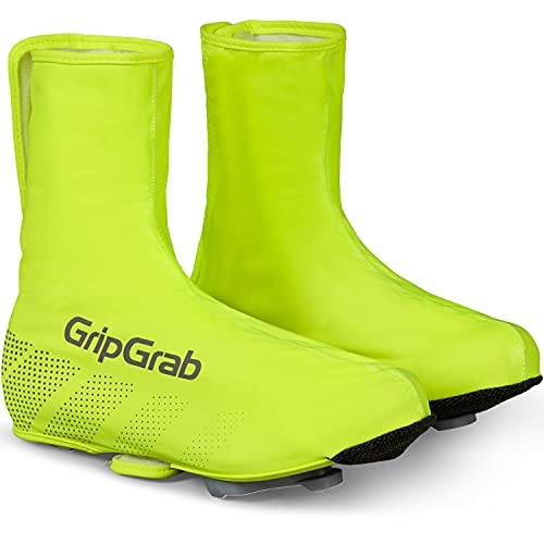 GripGrab Unisex– Erwachsene Ride wasserdichte Winddichte Fahrrad Regenüberschuhe Rennrad MTB Radsport Schuhüberzieher mit Klettverschluss Überschuhe, Gelb Hi-Vis, XL (44/45)