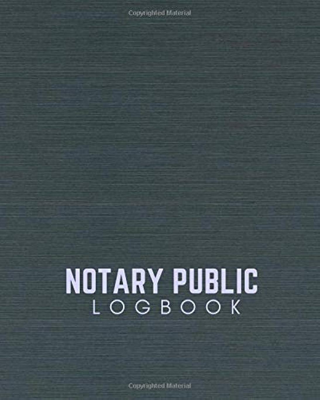 """カフェペルメル時折Notary Public Logbook: Perfect Notary Transaction Notebook Template Write-In and Sign-In Journal for All Administrative Affairs Large Print Size 8"""" x 10"""". (Notary Record Keeper.)"""