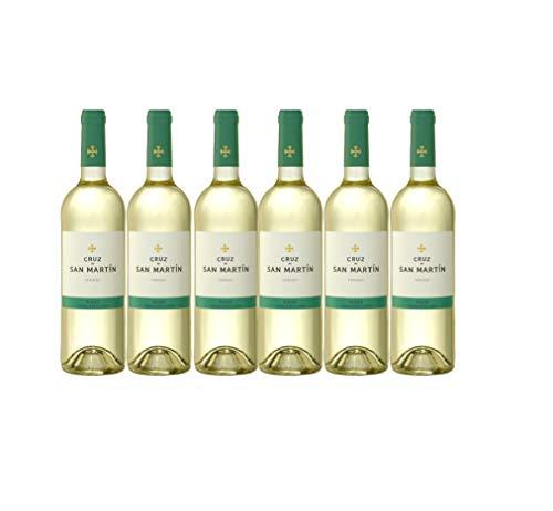 Vino Blanco Verdejo x6 Nueva Añada Cruz de San Martín D.O RUEDA 6 botellas