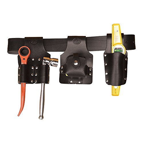 Scaffold Tool Belt Set With Tools – Premium Black Leather – Made in UK – Connell of Sheffield