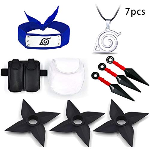LACKINGONE Neues Ninja Toy Game Set Shuriken, Kunai, Makibishi Plastikgummi Naruto Realistic (Schwarz 6)