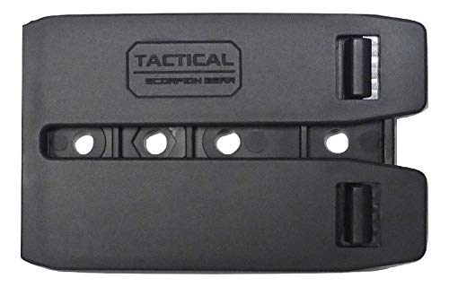 Tactical Scorpion Gear Polymer Modular MOLLE Adapter for Gun Holsters and Magazine Pouches Black