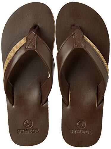 Amazon Brand - Symbol Men's Brown Flip-Flops-7 UK (41 EU) (8...