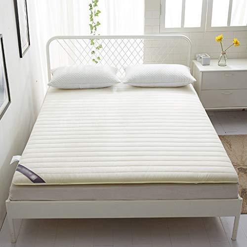 yangdan Funda de colchón plegable de algodón de verano para cama de cuatro estaciones universal (color: blanco, tamaño: 0,9 x 2 m)