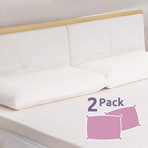 UTTU Sandwich Memory Foam Pillow Queen, 2 Pack, Adjustable Three Layers Pillow, Supportive Pillow - Queen Size
