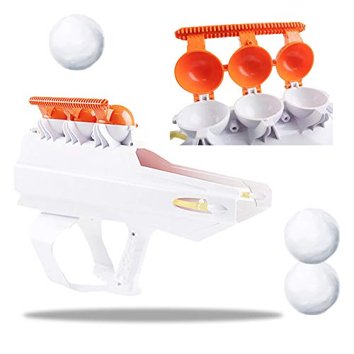 Snowball Launcher Gun, Round Snowball Maker Mold, Darkduke Winter Outdoor Snow Fight Snowball Launcher Parent-Child Snow Tool, Sturdy Snow Ball Blaster Toy, Fighting Toy Winter Fun for Kids Adults