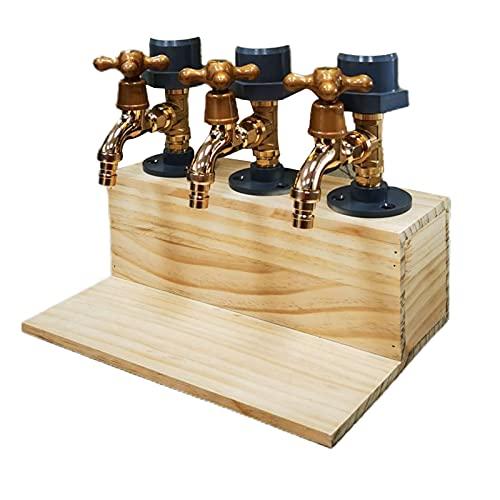 Washranp Dispensador de licor con forma de grifo para el día del padre, dispensador de madera, cenas de fiesta, barras y estaciones de bebidas, regalo para hombres, papá, hermano, novio marido 3