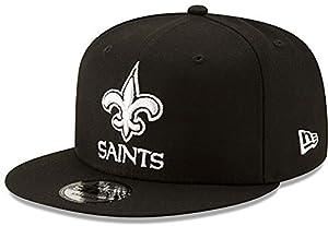 New Era NFL Basic Snap 9FIFTY Snapback Cap - New Orleans Saints Black 3 One Size Fits All