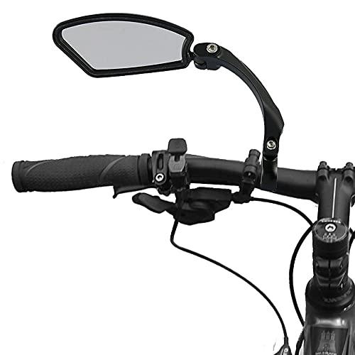Specchietti Bici Ruotato di 360 ° Regolabile Universale Specchio Retrovisore per Biciclette Scooter Mountain Bike MTB con Manubrio Diametro 22 mm (Sinistra)