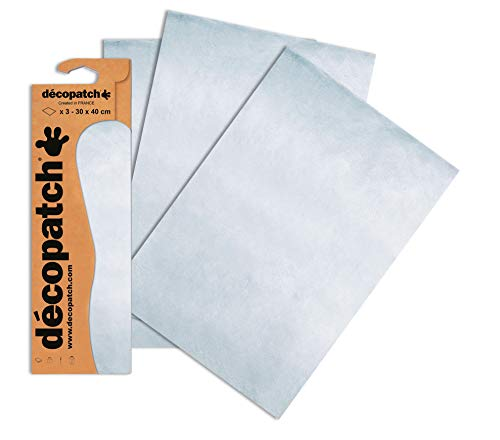 Decopatch Papier No. 503 (silber, 395 x 298 mm) 3er Pack