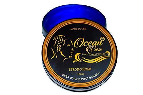 Ocean View Deep Waves Pomade- Water-Based Hair Cream for 360 Wave Training and Wolfing- Silky Smooth Application and Styling, Strong Hold, Easy Wash- Waver and Barber Accessories - 4oz Tin Can