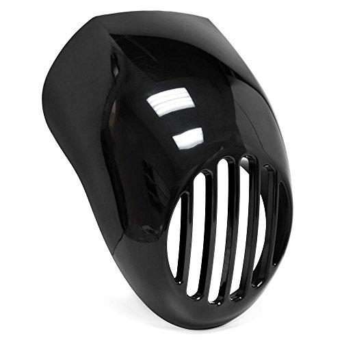 Krator Headlight Fairing Custom Prison Grill Black Cafe Visor Bracket Compatible with Harley Davidson Sportster