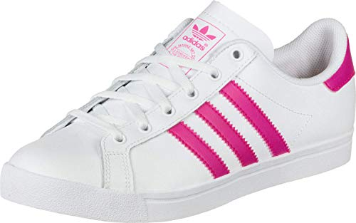 adidas Originals Coast Star J Blanco/Rosa (White/Shocking Pink) Cuero 37⅓ EU