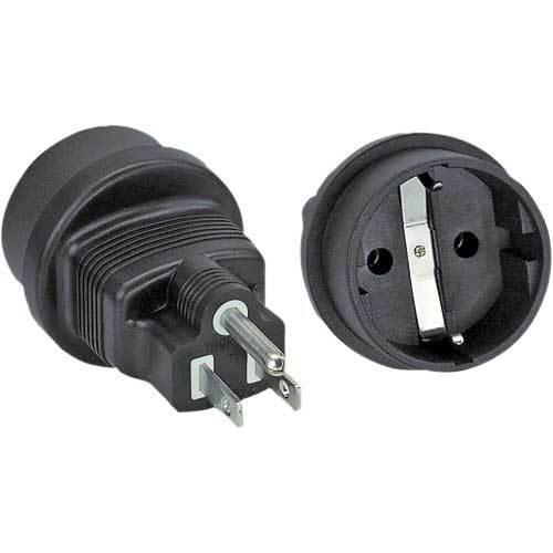 InLine - Adaptador de corriente para Estados Unidos negro negro 3 unidades