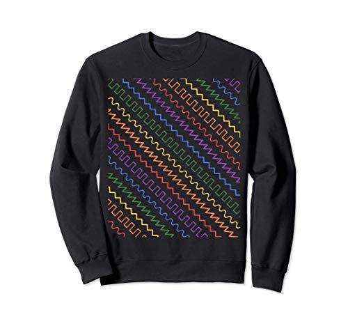 Sintetizador forma de onda Waveform en LGBT colores Sudadera